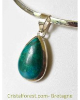 Pendentif Chrysocolle & argent 925