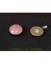 Bijoux interchangeable avec clips - Quartz rose