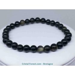 Obsidienne dorée - Bracelets Boules de 6 et 8 mm