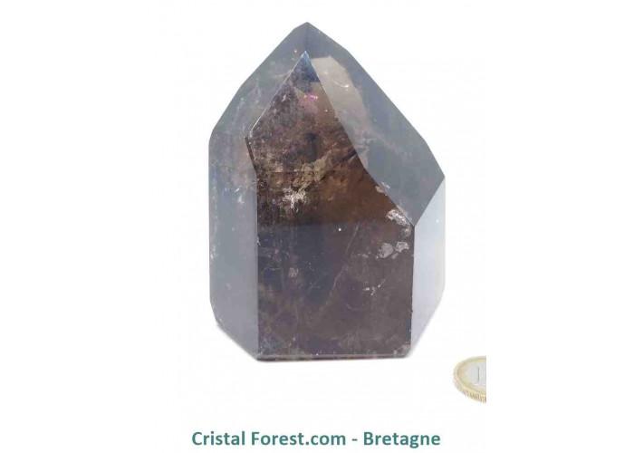 Quartz fumé - Pointes polies (prismes) - 9,5 x 7,3 x 7 cm / 657 gr