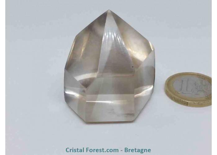 Quartz fumé - Pointes polies (prismes) - 3,7 x 3,7 x 2,9 cm / 54 gr