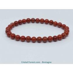 Jaspe rouge AAA - Bracelets Boules
