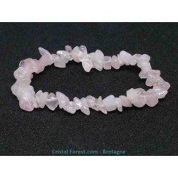Quartz rose - Bracelet baroque (ships)