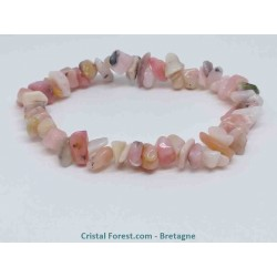 Opale rose des Andes extra - Bracelet baroque (ships)