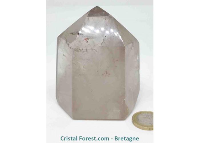 Quartz fumé - Pointes polies (prismes) - 8,2 x 6,7 x 5 cm / 451 gr