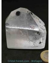 Quartz rutile et inclusions - Pointes polies (prismes)