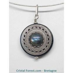 Labradorite & silver filled (10% d'argent 925) - Pendentifs amulette