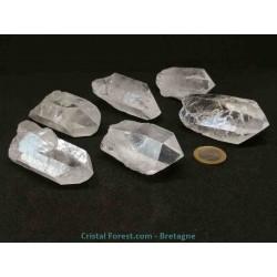 Cristal de roche - pointes brutes  6,5 à 8 cm / 68 à 91 gr