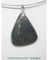 Obsidienne Mentogochol (Manta Huichol) - Pendentifs bélière