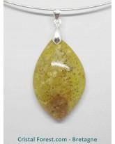 Opale verte - Pendentifs bélière