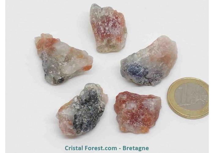 Pierre de soleil - Pierres brutes - Qualité : AA : 2.3 à 4cm / 3 à 10gr