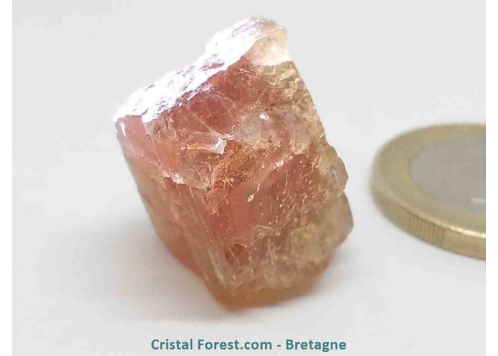 Scapolite orange rouge (Wernerite) - Pierre brute  - 2.1 x 1.5 x 1.6cm / 8.88gr