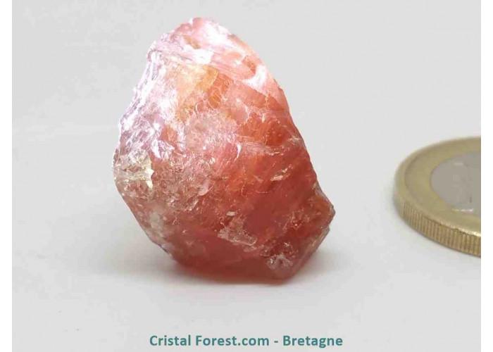 Scapolite orange rouge (Wernerite) - Pierre brute