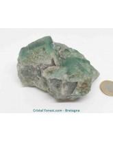 Fluorite - Pierre Brute - Cristalisée sur Gangue