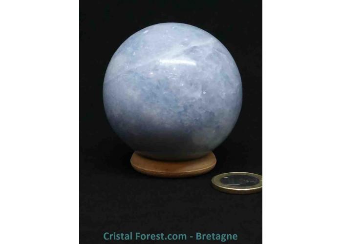 Calcite bleue - Sphères - Ø 6cm / 323gr