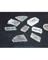 Calcite optique blanche brute