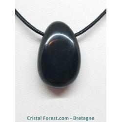 Obsidienne Oeil céleste AAA - Pendentif pierre percée