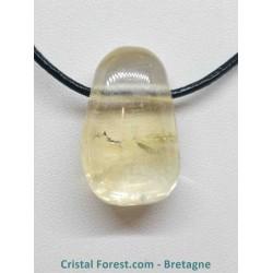 Calcite Miel - Pendentif Pierre percée