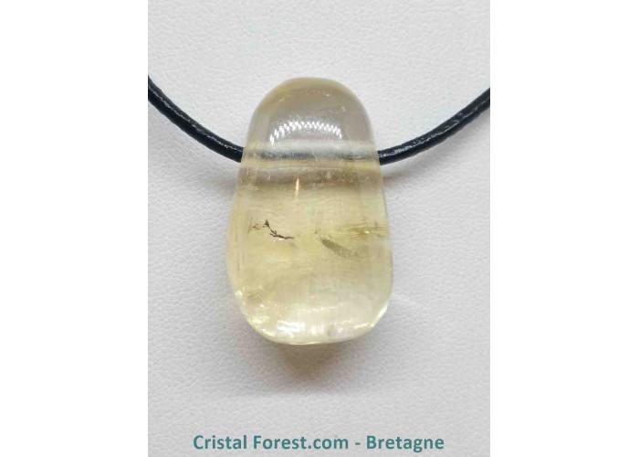 Calcite Miel - Pendentif Pierre percée - 2.5 à 3cm / ≈ 13gr