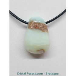 Opale Bleue-Verte - Pendentif Pierre percée