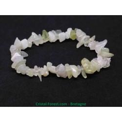 Jade de Chine / Serpentine - Bracelet Baroque (ships)