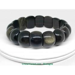 Obsidienne Dorée - Bracelet Plaquettes