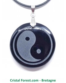 Obsidienne Noire - Pendentif Yin Yang