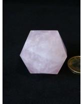 Icosaèdre Quartz rose - 3,5 cm