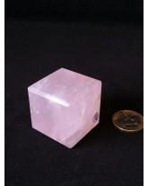 Cube Quartz rose - 3,4 cm