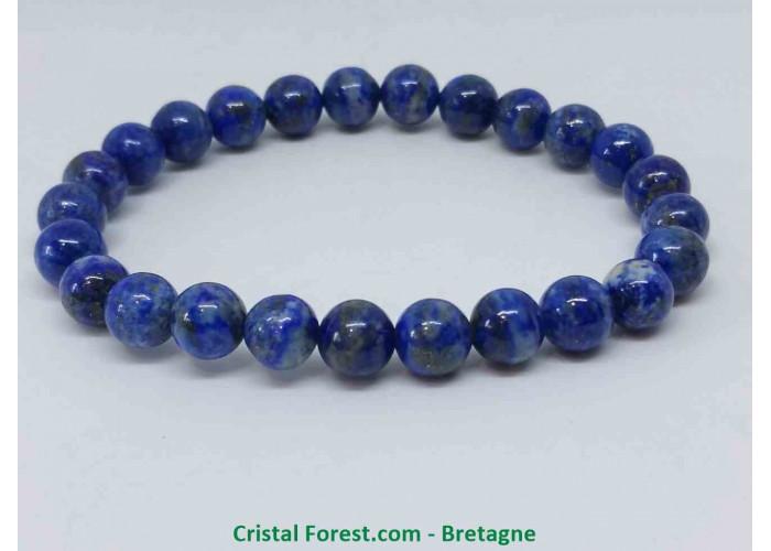 Lapis lazuli - Bracelets boules - boules 8 mm / Long 15,5 cm / 20 gr.