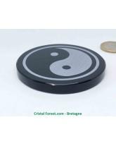 Obsidienne Noire - Disque Yin Yang