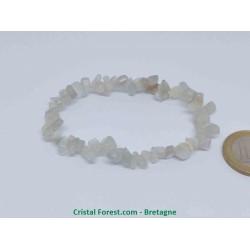 Pierre de lune blanche véritable - bracelet baroque (ships)