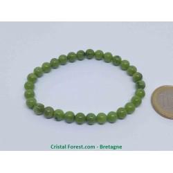 Jade Nephrite - Bracelet Boules 6mm