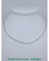 Cristal de Roche - Colliers Boules - Fermoir Argent