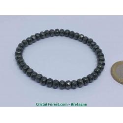 Pyrite de Fer - Bracelet Boules Facettées - 6mm