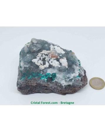 Dioptase et quartz