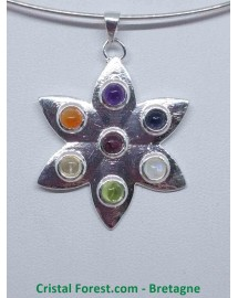 7 Chakras - Pendentif Fleur
