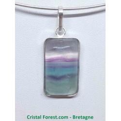 Fluorite - Pendentif Bélière métal