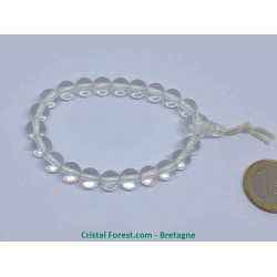 Cristal de roche - Bracelet 8 mm mala tibétain