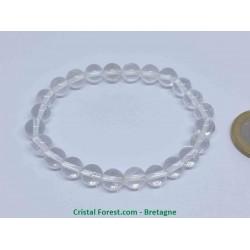 Cristal de roche Extra - Bracelet boule 8mm