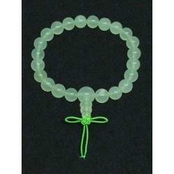 Jade de Chine / Serpentine - Bracelet Mala Tibétain - Boules de 8mm