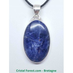 Sodalite - Pendentif Serti Argent - Qualité Joaillerie AAA+
