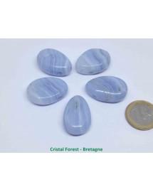 Pendentif - Calcédoine bleue
