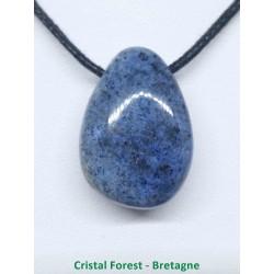 Dumortiérite - pendentif (pierre percée) 2,5 à 3cm