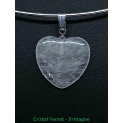 Cristal de roche - Pendentif Coeur