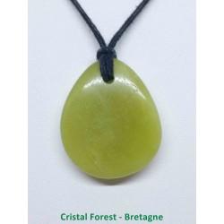 Jade de Chine Serpentine - Pendentif Pierre Percée