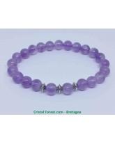 Améthyste - Bracelet Boules et Perles Intercalaires