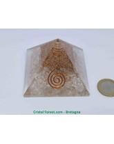 Orgonite et Cristal de Roche - Pyramide