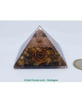 Orgonite et Oeil de Tigre - Pyramide