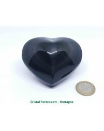 Obsidienne Oeil céleste (arc-en-ciel) - Coeurs